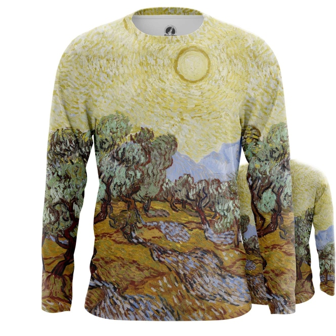 Merch Long Sleeve Olive Trees Painting Vincent Van Gogh