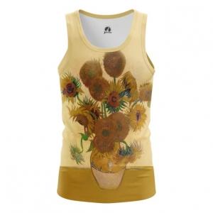 Merchandise Tank Vase With Twelve Sunflowers Oil Paint Vincent Van Gogh Vest