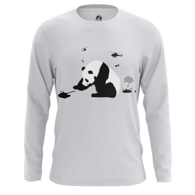 Merch Long Sleeve Panda Warrior Fighter Humor Animal