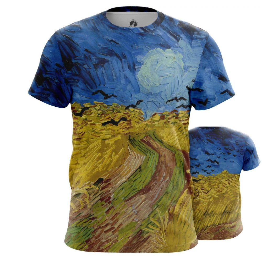 Merchandise Long Sleeve Wheatfield With Crows Painting Vincent Van Gogh