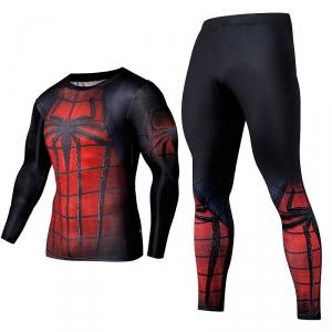 Merchandise Spider-Man Rashguard Set Red Workout