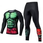 Merchandise Green Hulk Rage Rashguard Set Crossfit