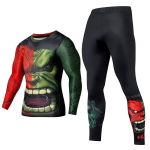 Merch Red Hulk Rage Rashguard Set Crossfit