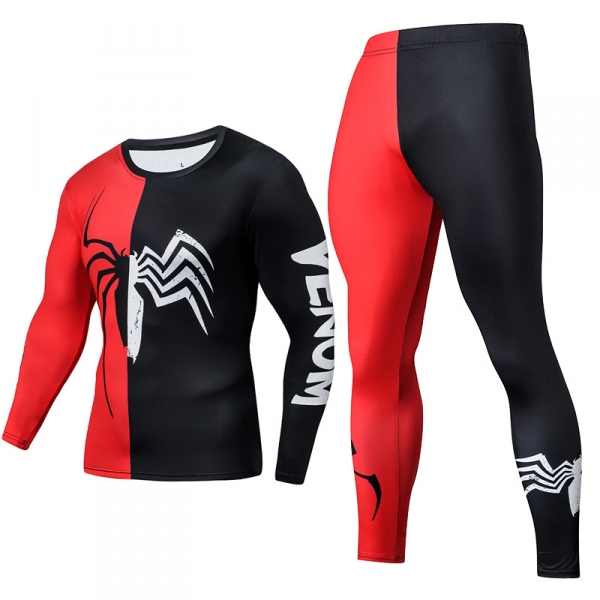 1a6fd274ab Compression Long Sleeve Leggings Set Spider-man Venom logo - IdolStore