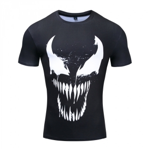 Merchandise Rash Guard Venom Movie Workout Shirt