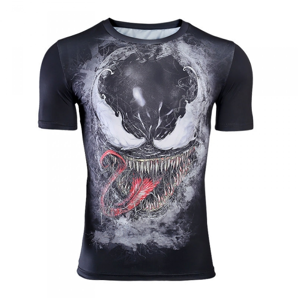 bd1fb4963b Short sleeve Rash guard 2019 We are Venom Work out shirt - IdolStore