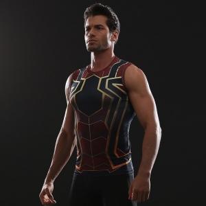 Merch Muscle Shirt Iron Spider-Man Workout T-Shirt