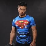 Merch Workout Shirt Superman Costume