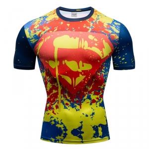 Collectibles Workout Shirt Superman Pains Pattern
