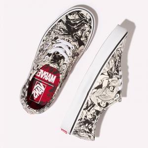 Merchandise Vans Authentic Lite Black And White Pattern Marvel Comics