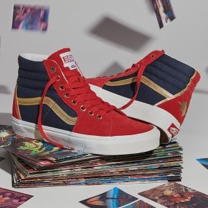 Merchandise Vans Sk8-Hi Captain Marvel Star Movie Costume Inspired