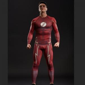 Merch The Flash Costume Set Compression Workout