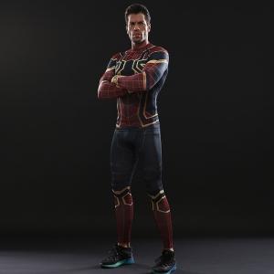 Merchandise Iron Spider Man Costume Set Shirt Workout