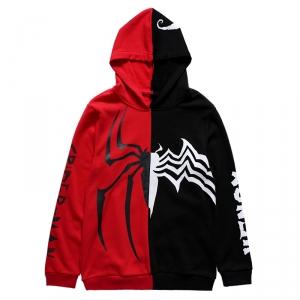 Merch Hoodie Spider-Man Venom Crossover Red Black