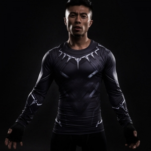 Collectibles T'Challa Rashguard Black Panther Jersey