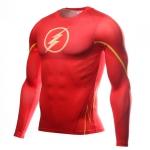 Collectibles Flash Long Sleeve Rashguard Workout Jersey