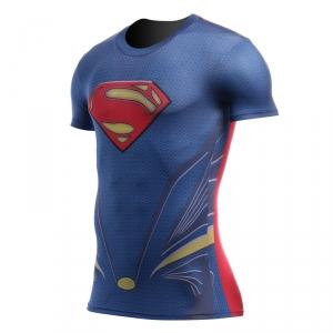 Collectibles Superman Rash Guard Shirt Man Of Steel Workout