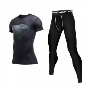 Merchandise Superman Black Rashguard Set Costume