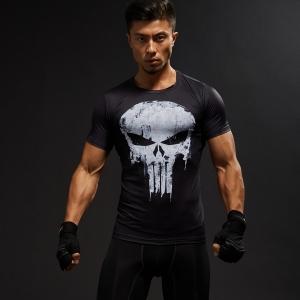 Merch Punisher Rashguard T-Shirt Logo Workout