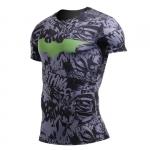 Merch Batman Rash Guard Shirt Comics Pattern Workout