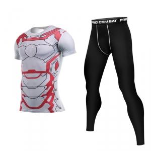 Merch Iron Man Mark 43 Rashguard Set Costume