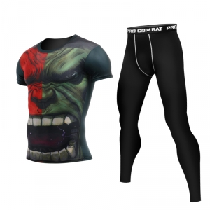 Merch Red Hulk Rage Rashguard Set Costume
