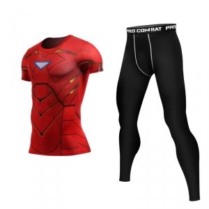 Merch Iron Man Mark 6 Rashguard Set Costume