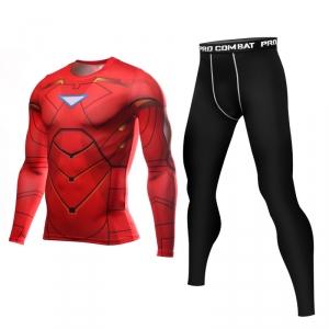 Merch Iron Man Rashguard Set Long Sleeve Leggings