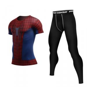 Merch Spider-Man Movie Version Rashguard Set Costume