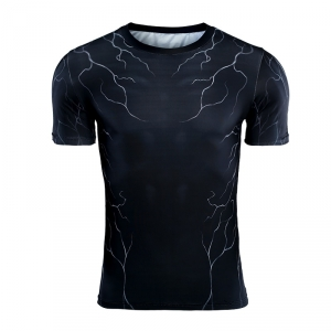 Collectibles Rash Guard Venom Symbiote Workout Shirt