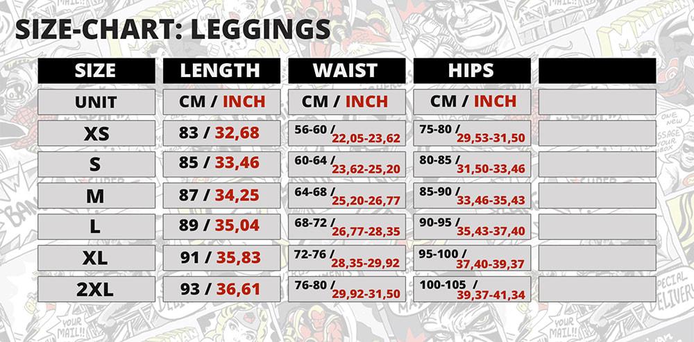 Leggings Size Chart