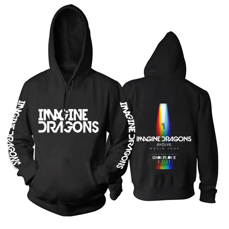 Collectibles Hoodie Imagine Dragons Evolve Tour With Grouplove K.flay Pullover