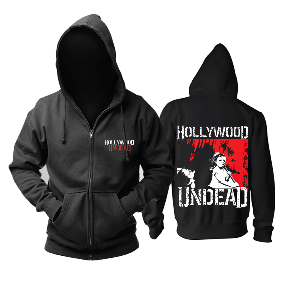 Merchandise Hoodie Hollywood Undead Five Black Pullover