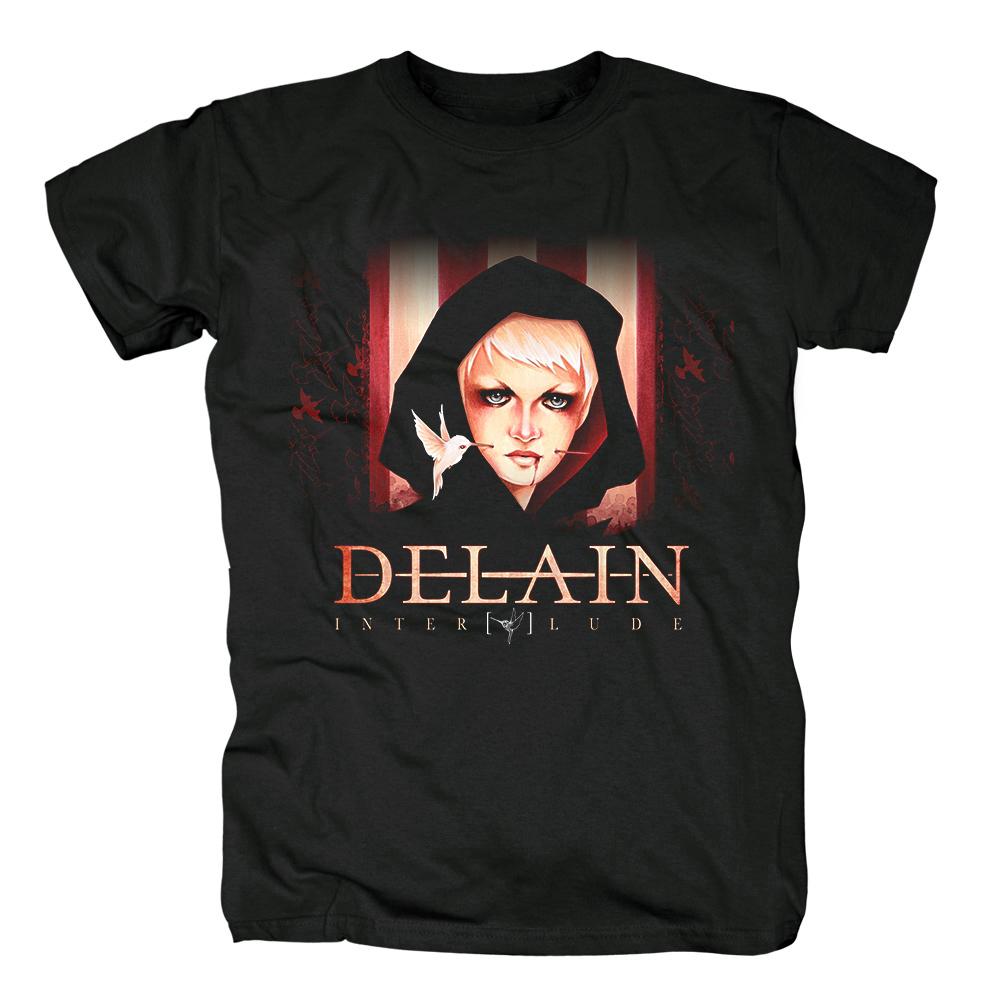 Merch T-Shirt Delain Interlude Black