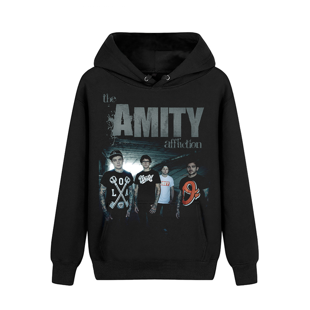 Merch Hoodie The Amity Affliction Metalcore Band Black Pullover