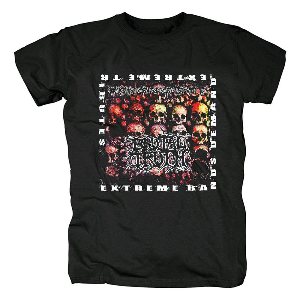 Merchandise T-Shirt Brutal Truth Extreme Bands Demand Extreme Tributes