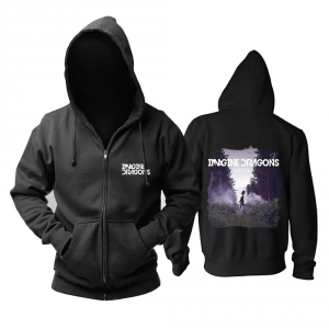 Merch Black Hoodie Imagine Dragons Roots Pullover