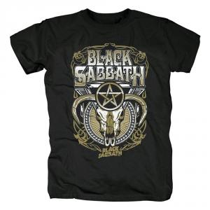 Merch T-Shirt Black Sabbath Cow Skull