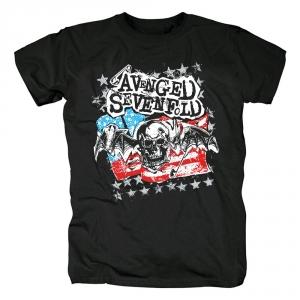 Merchandise T-Shirt Avenged Sevenfold Flag Logo