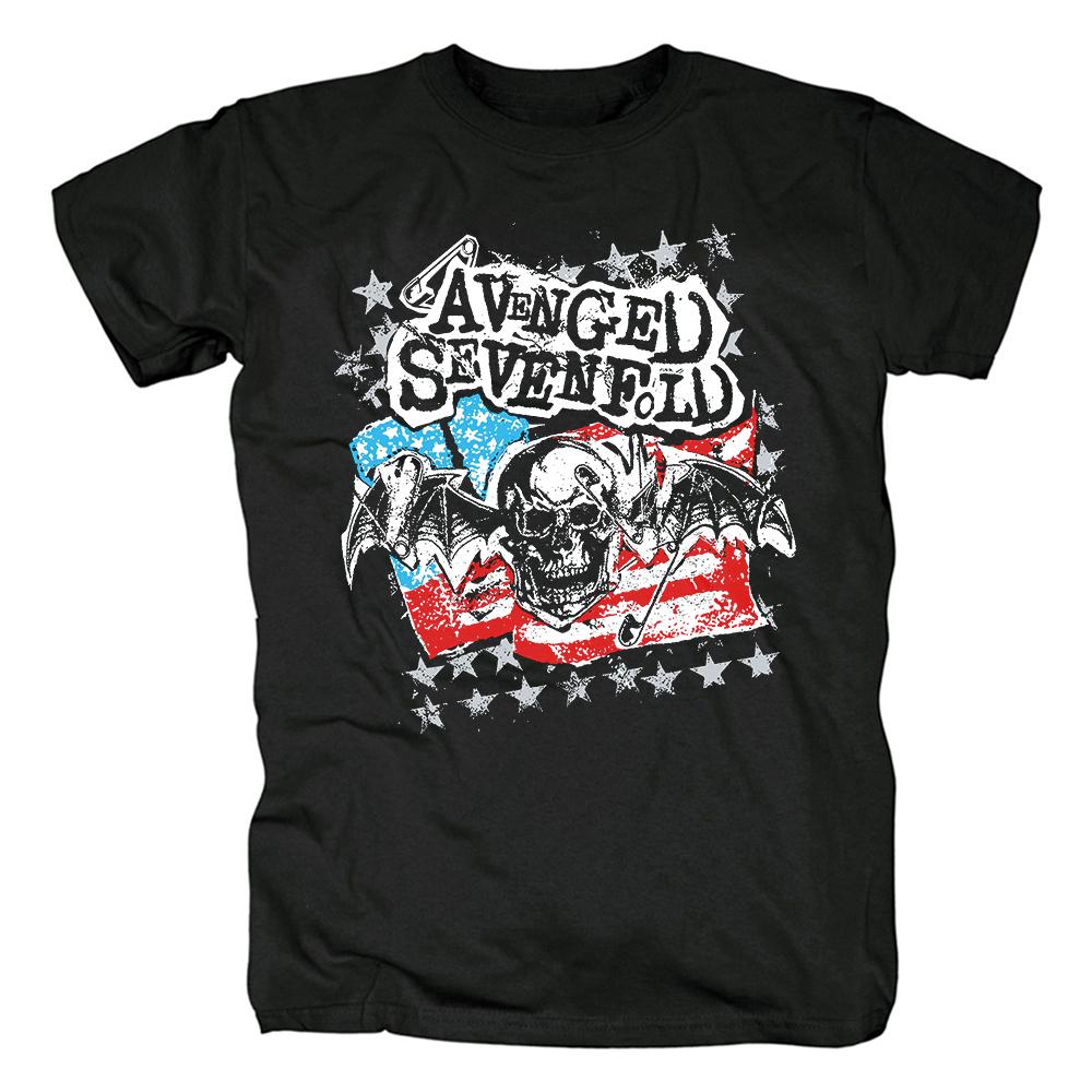 Merch T-Shirt Avenged Sevenfold Flag Logo