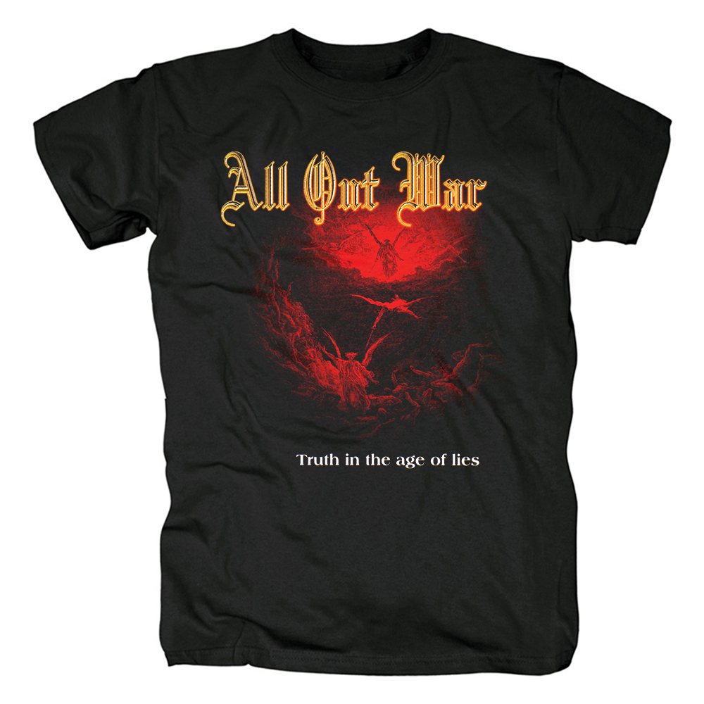 Merch T-Shirt All Out War Truth In The Age Of Lies