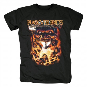 Collectibles T-Shirt Black Veil Brides Alive And Burning