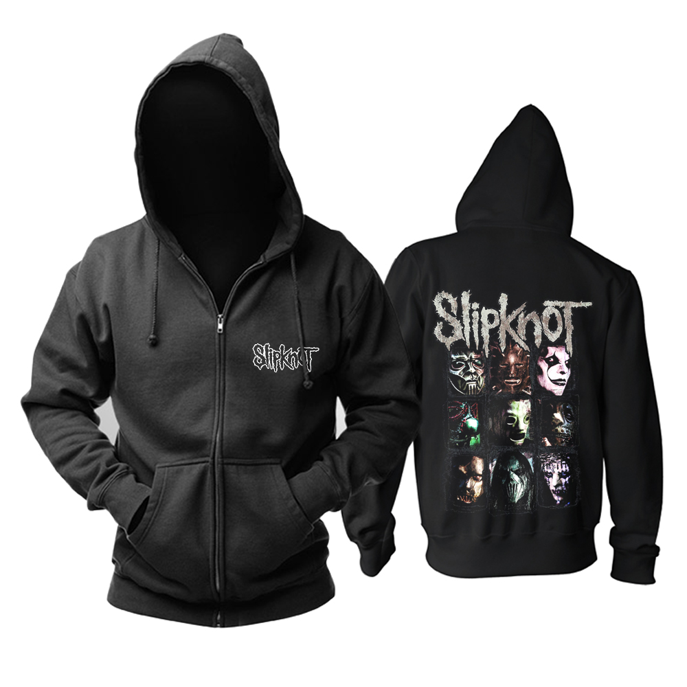 Merch Slipknot Whole Band Hoodie Print Pullover