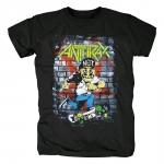 Merchandise T-Shirt Anthrax Skater Guy Black