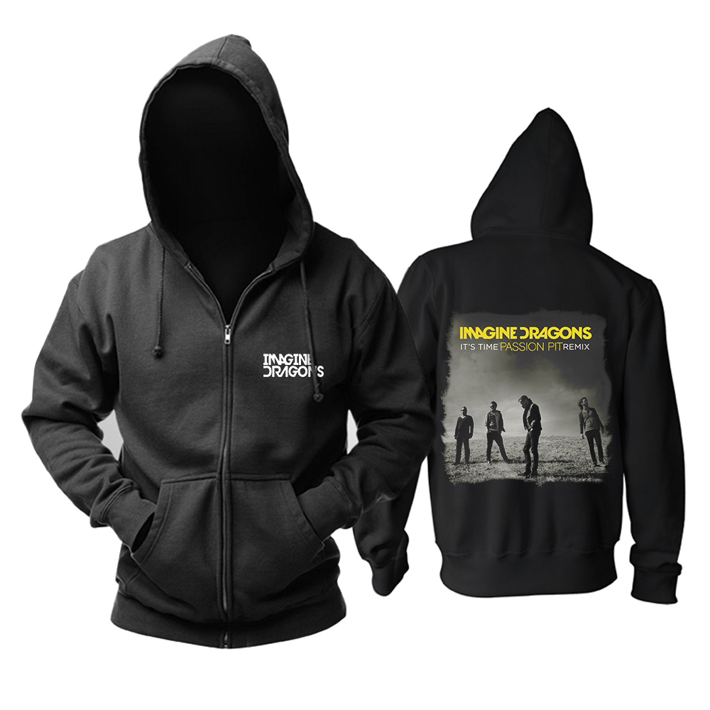 Merchandise Hoodie Imagine Dragons It'S Time Passion Pit Remix Pullover