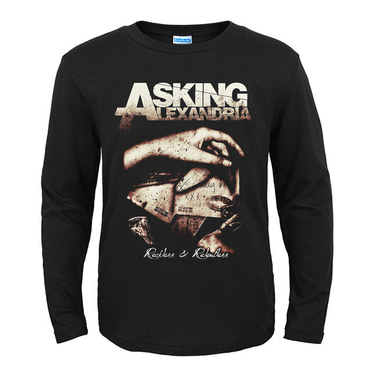 Collectibles T-Shirt Asking Alexandria Reckless &Amp; Relentless Black