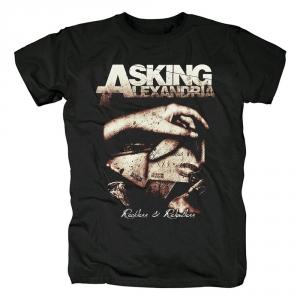 Merch T-Shirt Asking Alexandria Reckless &Amp; Relentless Black