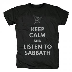 Merch T-Shirt Black Sabbath Keep Calm And Listen To