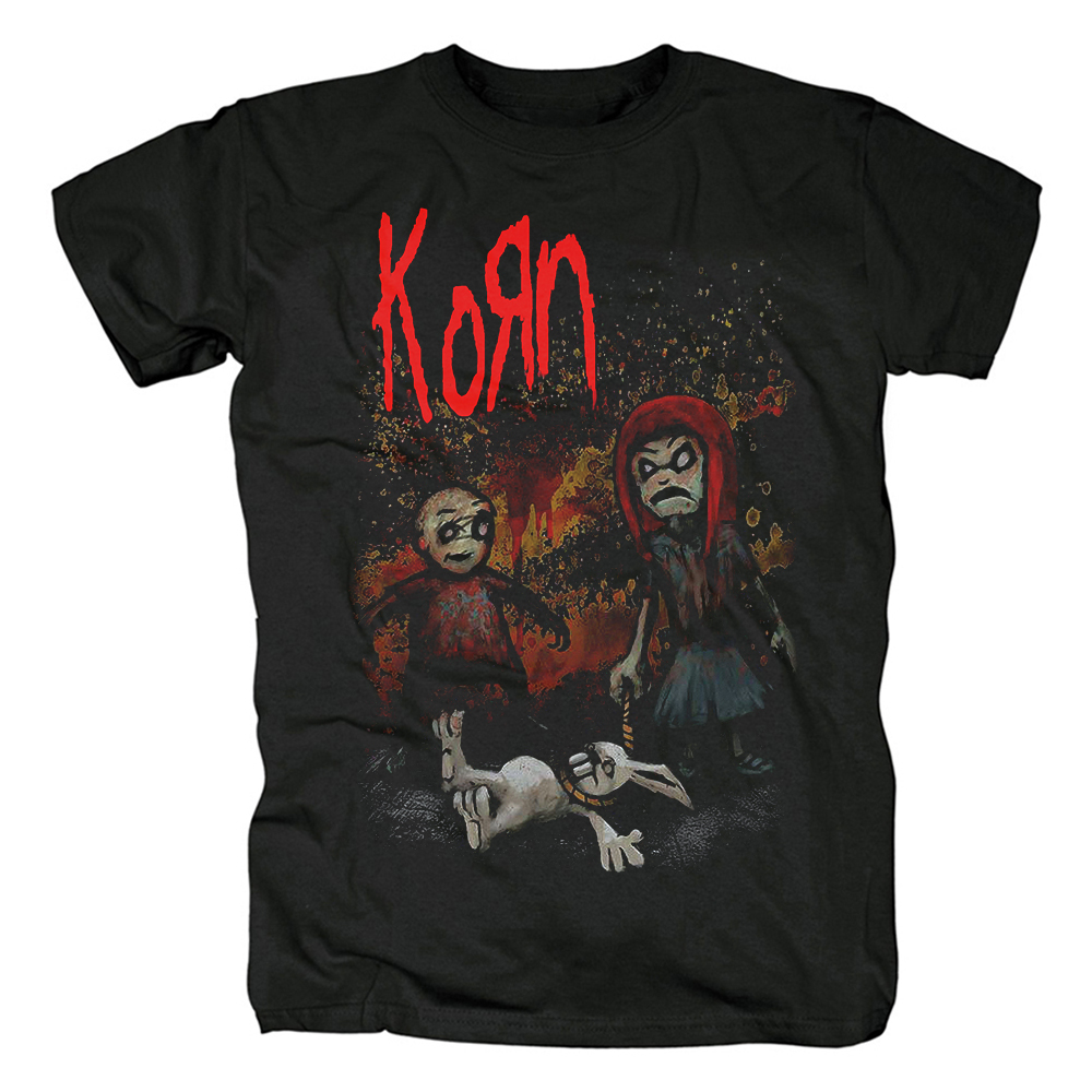 Merch T-Shirt Korn Dead Bunny Black