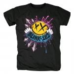 Merch T-Shirt Blink-182 Rock Band Logo Black